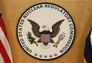 A U.S. Nuclear Regulatory Commission sign is pictured at the headquarters building in Rockville